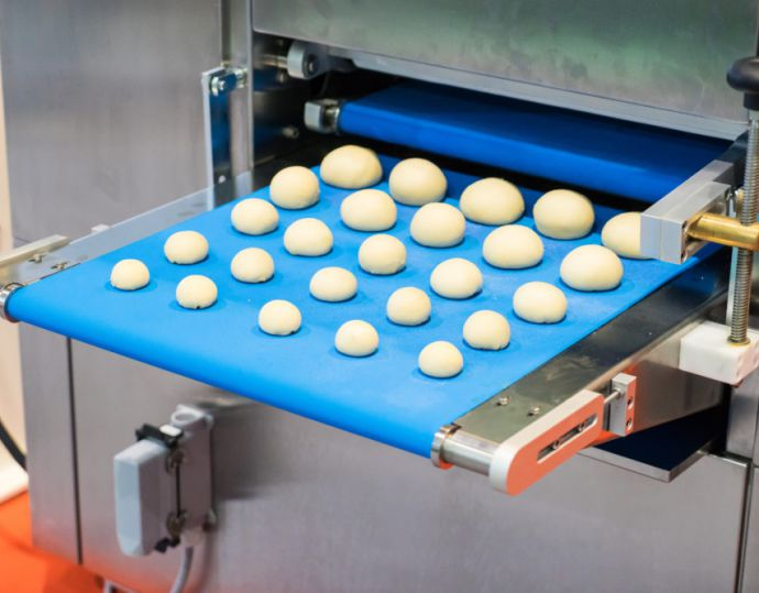 Automate Bun Making Machine factory, Bakery Bread house manufacturing. Bakery industrial machine. Bread Automated oven. Bakery Hi tech production.